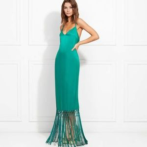 New Rachel Zoe turquoise green dress w/ fringe, 2